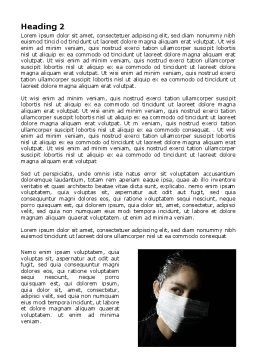 Sanitary Mask Word Template, Second Inner Page, 07814, Medical — PoweredTemplate.com