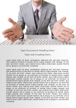 Open Hands Word Template, Cover Page, 07822, Consulting — PoweredTemplate.com