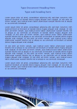 City Bridge Word Template, Cover Page, 07823, Construction — PoweredTemplate.com