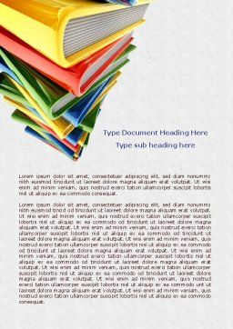 Pile of Books Word Template, Cover Page, 07825, Education & Training — PoweredTemplate.com
