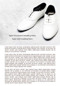White Shoes Word Template Cover Page