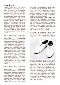 White Shoes Word Template First Inner Page