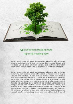 Tree of Knowledge Word Template, Cover Page, 07833, Education & Training — PoweredTemplate.com