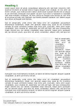 Tree of Knowledge Word Template, First Inner Page, 07833, Education & Training — PoweredTemplate.com