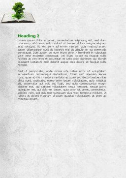 Tree of Knowledge Word Template, Second Inner Page, 07833, Education & Training — PoweredTemplate.com