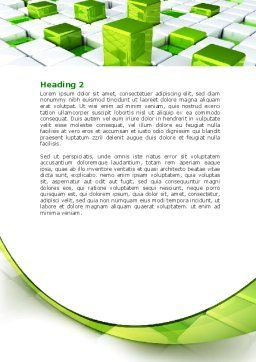 Green Graphs Word Template Second Inner Page