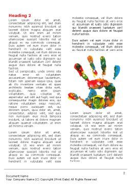 Colorful Hand Print Word Template First Inner Page