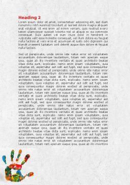 Colorful Hand Print Word Template Second Inner Page