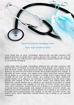 Forceps Word Template, Cover Page, 07842, Medical — PoweredTemplate.com