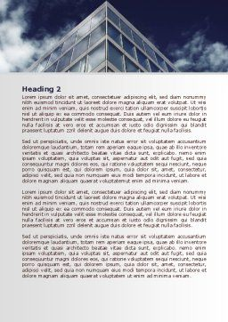 Concrete and Glass Word Template, Second Inner Page, 07844, Business — PoweredTemplate.com