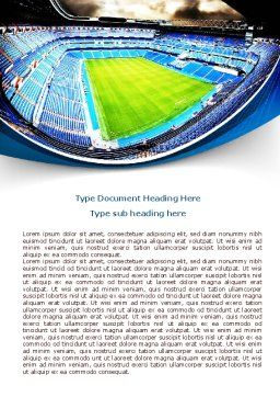 Stadium At Night Word Template, Cover Page, 07846, Careers/Industry — PoweredTemplate.com