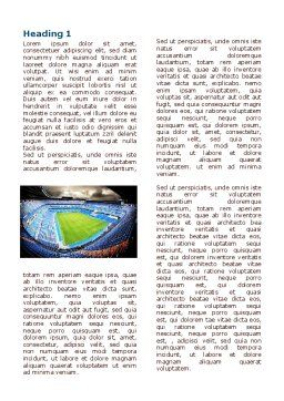 Stadium At Night Word Template, First Inner Page, 07846, Careers/Industry — PoweredTemplate.com