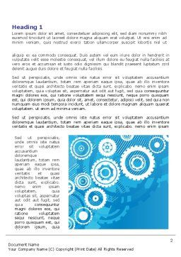 Pinion Blue Theme Word Template, First Inner Page, 07847, Business — PoweredTemplate.com
