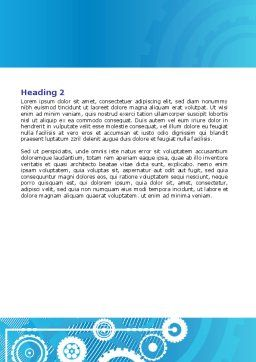 Pinion Blue Theme Word Template, Second Inner Page, 07847, Business — PoweredTemplate.com