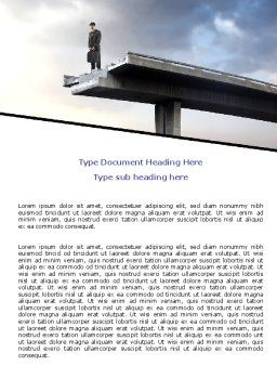 Deadlock Word Template, Cover Page, 07848, Consulting — PoweredTemplate.com