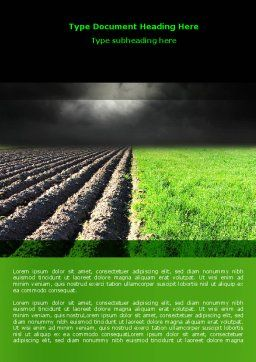 Plough Land Word Template, Cover Page, 07850, Agriculture and Animals — PoweredTemplate.com