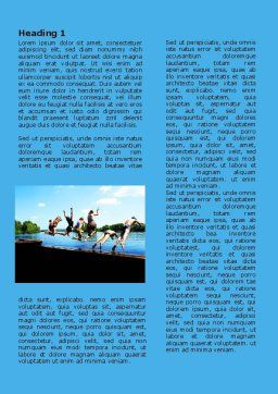 Swimming Party Word Template First Inner Page