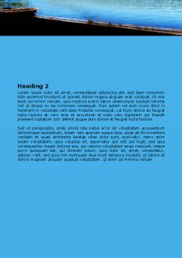 Swimming Party Word Template, Second Inner Page, 07851, People — PoweredTemplate.com