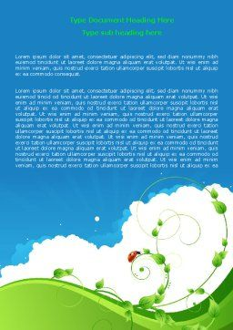 Curly Sprout Word Template, Cover Page, 07854, Nature & Environment — PoweredTemplate.com