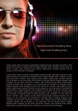 Music Lover Word Template, Cover Page, 07856, Careers/Industry — PoweredTemplate.com