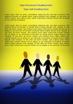 Four Businessmen Word Template, Cover Page, 07858, Business — PoweredTemplate.com