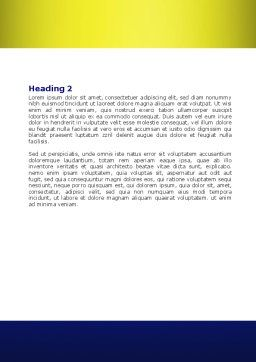 Four Businessmen Word Template, Second Inner Page, 07858, Business — PoweredTemplate.com