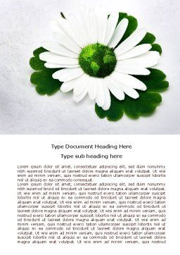 World Daisy Word Template Cover Page