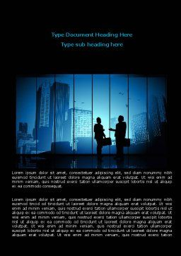 Dark Business Theme Word Template, Cover Page, 07863, Business — PoweredTemplate.com