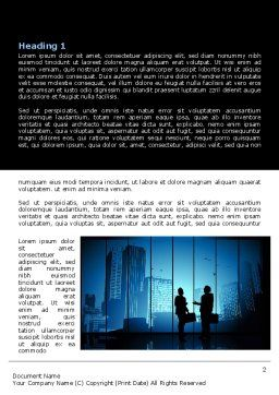 Dark Business Theme Word Template, First Inner Page, 07863, Business — PoweredTemplate.com