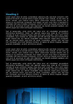 Dark Business Theme Word Template, Second Inner Page, 07863, Business — PoweredTemplate.com