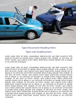 Traffic Collision Word Template Cover Page