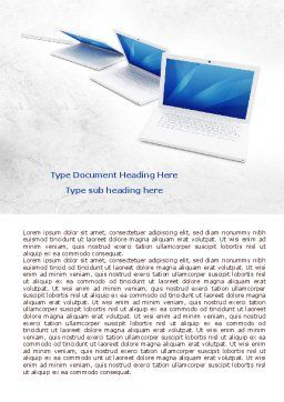 Laptops Word Template, Cover Page, 07866, Technology, Science & Computers — PoweredTemplate.com