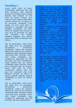 Blue Pages Word Template, First Inner Page, 07868, Careers/Industry — PoweredTemplate.com