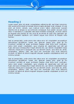Blue Pages Word Template, Second Inner Page, 07868, Careers/Industry — PoweredTemplate.com