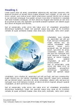 Yellow Globe Theme Word Template First Inner Page