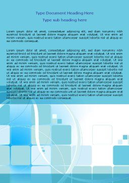 Aqua Cubic Theme Word Template, Cover Page, 07873, Business — PoweredTemplate.com