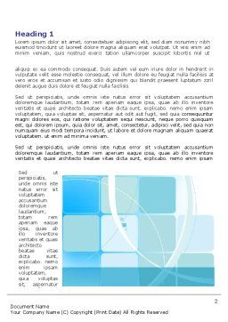 Aqua Cubic Theme Word Template, First Inner Page, 07873, Business — PoweredTemplate.com