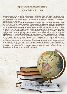 Study Geography Word Template, Cover Page, 07874, Education & Training — PoweredTemplate.com