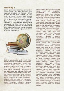 Study Geography Word Template, First Inner Page, 07874, Education & Training — PoweredTemplate.com