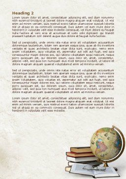 Study Geography Word Template, Second Inner Page, 07874, Education & Training — PoweredTemplate.com