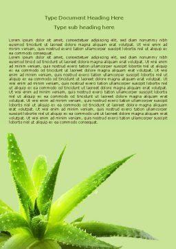 Aloe Word Template, Cover Page, 07880, Nature & Environment — PoweredTemplate.com