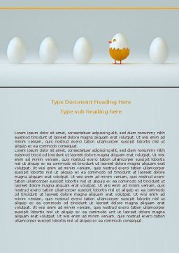 Hatched Chicken Word Template, Cover Page, 07882, Consulting — PoweredTemplate.com