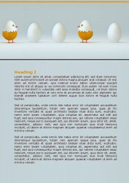 Hatched Chicken Word Template, Second Inner Page, 07882, Consulting — PoweredTemplate.com