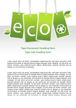 Eco Sign Word Template, Cover Page, 07883, Nature & Environment — PoweredTemplate.com
