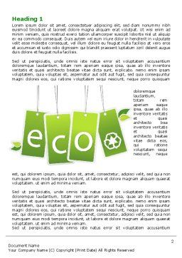 Eco Sign Word Template, First Inner Page, 07883, Nature & Environment — PoweredTemplate.com