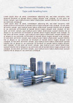 Hi-Tech District Word Template, Cover Page, 07885, Construction — PoweredTemplate.com