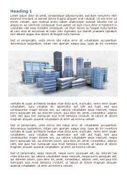 Hi-Tech District Word Template, First Inner Page, 07885, Construction — PoweredTemplate.com