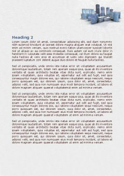 Hi-Tech District Word Template, Second Inner Page, 07885, Construction — PoweredTemplate.com