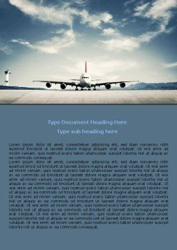 Air Liner Word Template, Cover Page, 07887, Cars/Transportation — PoweredTemplate.com