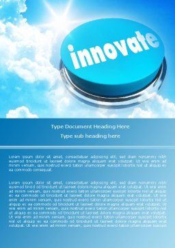 Start Innovation Word Template, Cover Page, 07889, Technology, Science & Computers — PoweredTemplate.com